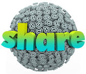 Share Email Sign Symbol Sphere Give Feedback — Stock Photo