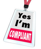 Yes I'm Compliant Badge Rules Regulations Compliance — 图库照片
