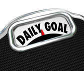 Daily Goal Scale Weight Loss Diet Plan — Stock Photo