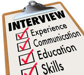 Interview Checklist Job Candidate Requirements — Stock Photo