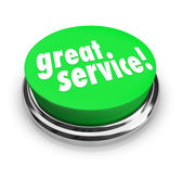 Great Service Feedback Response Review Button — Stock Photo