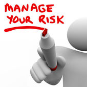 Manage Your Risk Manager Writing Words Marker — Stock Photo
