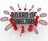 Board of Directors People Speech Bubbles Discussion Company Lead — Stock Photo