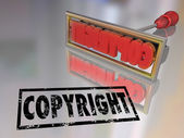 Copyright Branding Iron Name Product Protection — Stock Photo