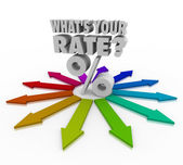 What's Your Rate Percent Sign Interest Investment Return — Stock Photo