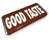 Good Taste Chocolate Candy Bar Wrapper — Stock Photo