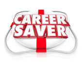 Career Saver Life Preserver Career Job Rescue — Stock Photo