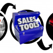Stock Photo: Sales Selling Methods Tools Turn Prospects Into Big Customers