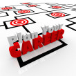 Stock Photo: PlYour Career Targeted Positions Org Chart Targeted Jobs
