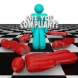 Are You Compliant Following Rules Regulations Legal Process — Stock Photo #35630923
