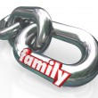 Family Chain Links Relationships Families Parenthood — Stockfoto