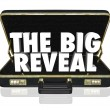 Stock Photo: Big Reveal Opening Briefcase Revealing Mystery Inside