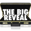 图库照片: The Big Reveal Opening Briefcase Revealing Mystery Inside