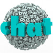 Chat Word Letter Ball Sphere Talking Discussion — Foto Stock