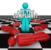 Are You Compliant Following Rules Regulations Legal Process — Stock Photo