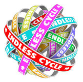 Endless Cycle Pattern in Circles Neverending Cyclical Perpetual — Stock Photo