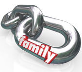 Family Chain Links Relationships Families Parenthood — Stock Photo