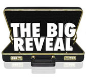The Big Reveal Opening Briefcase Revealing Mystery Inside — 图库照片