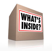 What's Inside Cardboard Box Delivery Mystery Carton — Stock Photo