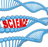 DNA Science Word Biology Learning Education — Stock Photo