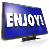 Enjoy Word HDTV Television Program Entertainment — Stock Photo