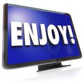 Enjoy Word HDTV Television Program Entertainment — Stock Photo