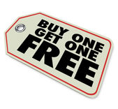 Buy One Get Free Price Tag Sale Special Promotion — Stock Photo