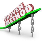 Proven Method Process Procedure Team Lifting Arrow — Stock Photo