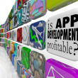 Is App Development Profitable Mobile Application Programming — Stock Photo #39070769