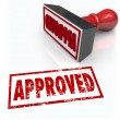 Approved Rubber Stamp Accepted Approval Result — Stock Photo