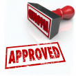 Approved Rubber Stamp Accepted Approval Result — Stock Photo #39070777