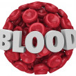 Stock Photo: Blood Word Red Cell Cluster Clot Condition Disease