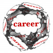Career Thought Clouds Sphere Thinking Plan Path — 图库照片