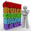 Stock Photo: Compliance Rules Thinker Guidelines Legal Regulations