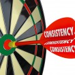 Stock Photo: Consistency Dependable Reliable Perfect Score Dart Board