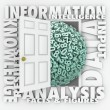 Data Information Retrieval Research Numbers Figures Door — Stock Photo