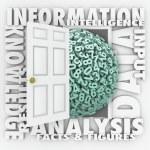 Data Information Retrieval Research Numbers Figures Door — Stock Photo #39070935