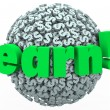 Earn Dollar Sign Sphere Making Money Work Career Income — Stock Photo
