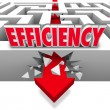 Efficiency Arrow Breaking Barriers Better Effective Results — Stock Photo #39070977