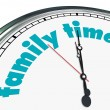 Family Time - Clock — 图库照片