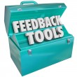 Stock Photo: Feedback Tools Toolbox Comments Reviews Opinions