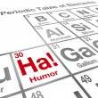 Stock Photo: Ha Humor Element Periodic Table Funny Laughter Comedy