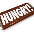 Stock Photo: Hungry Word Chocolate Candy Bar Wrapper Hunger