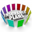 Insurance Plans Many Options Health Care Choices Doors — Stock Photo