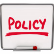 Policy Word Notice Board Follow Procedure Compliance — Stock Photo