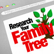 Stock Photo: Research Your Family Tree Online Website Research Database
