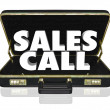 Sales Call Open Briefcase Selling Presentation Proposal — Stock Photo #39071329