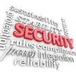 Stock Photo: Security Words Protection Network Information Technology