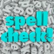 Spell Check Letter Background Correct Spelling Words — Stock Photo #39071377
