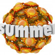 Stock Photo: Summer Suns 3D Word Season Change